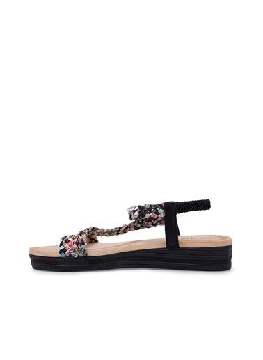 Via Dante Via Dante Kadın Taş Detaylı Sandalet Siyah